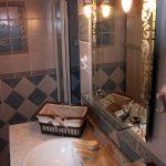 Salle de bain et douche gîte de Fournels en Lozère