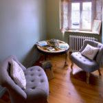 Salon à l'étage au Gite de Fournels